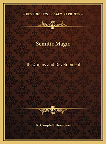 9781169772687: Semitic Magic: Its Origins and Development