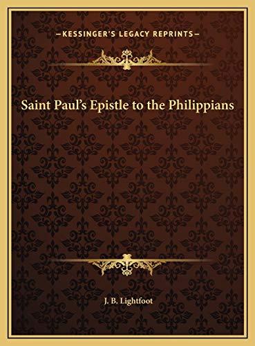 9781169774711: Saint Paul's Epistle to the Philippians