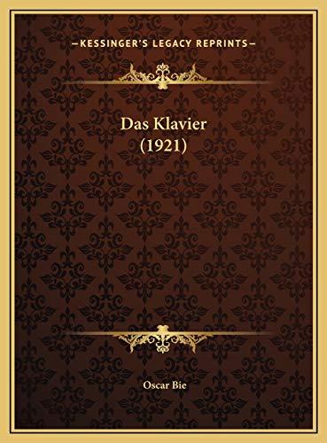 9781169777354: Das Klavier (1921) (German Edition)