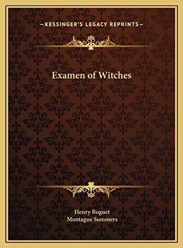 9781169777477: Examen of Witches