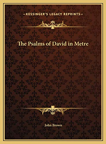 9781169792425: The Psalms of David in Metre