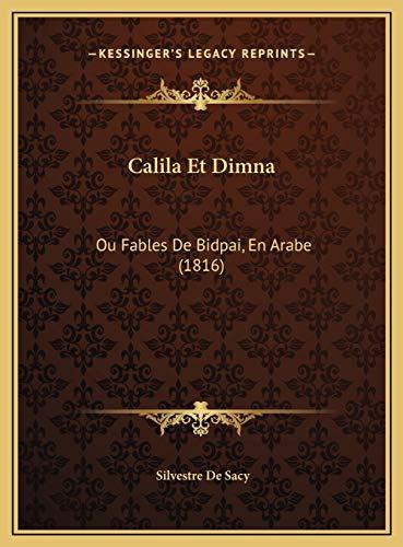 9781169797321: Calila Et Dimna: Ou Fables de Bidpai, En Arabe (1816)