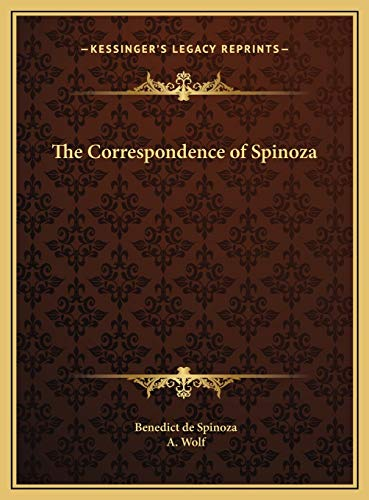 9781169801479: The Correspondence of Spinoza