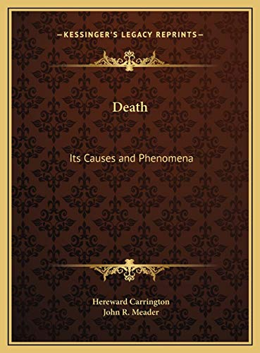 9781169810181: Death: Its Causes and Phenomena