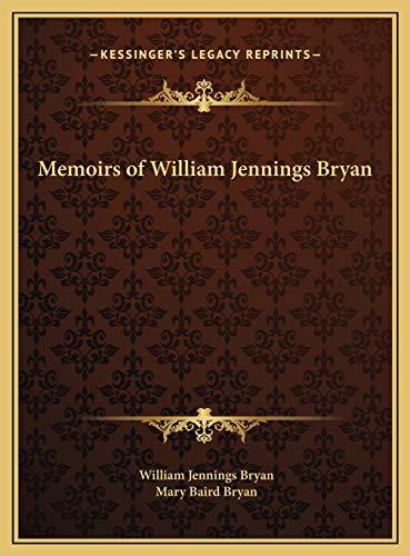 9781169815759: Memoirs of William Jennings Bryan