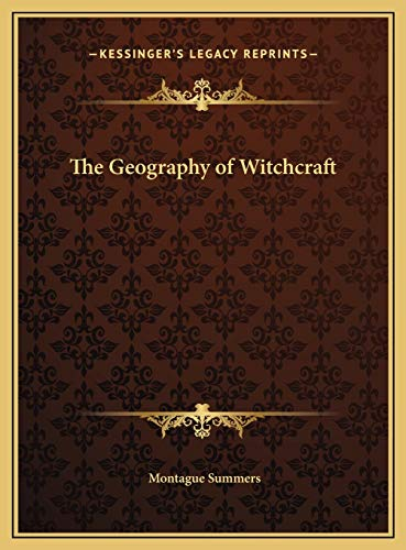 9781169816602: The Geography of Witchcraft