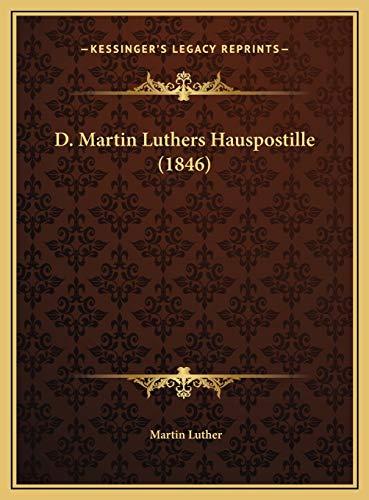 9781169821446: D. Martin Luthers Hauspostille (1846) (German Edition)