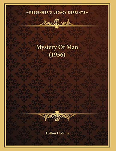 9781169829244: Mystery Of Man (1956)