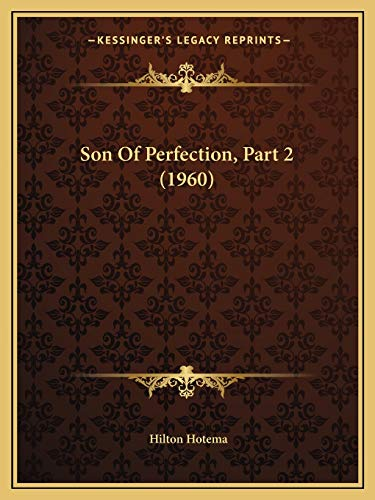 9781169829657: Son of Perfection, Part 2 (1960)