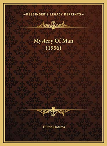 9781169830905: Mystery Of Man (1956)