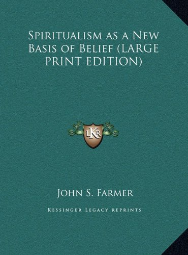 9781169849433: Spiritualism as a New Basis of Belief