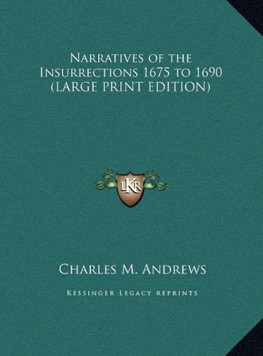 9781169849938: Narratives of the Insurrections 1675 to 1690