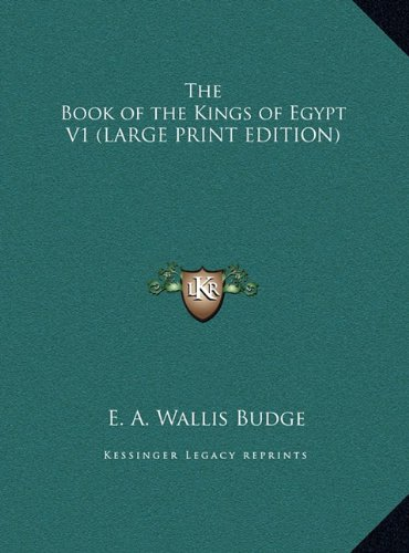 9781169852945: The Book of the Kings of Egypt V1 (LARGE PRINT EDITION)