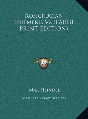 9781169860018: Rosicrucian Ephemeris V2 (LARGE PRINT EDITION)