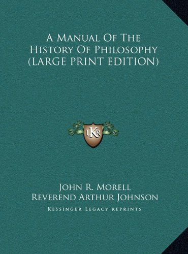 9781169873421: A Manual of the History of Philosophy