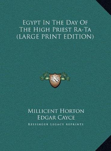9781169888937: Egypt In The Day Of The High Priest Ra-Ta (LARGE PRINT EDITION)