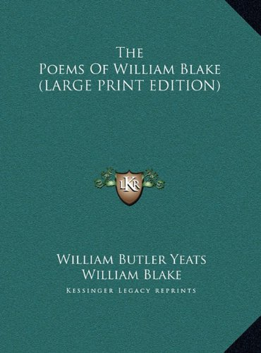 9781169890510: The Poems Of William Blake (LARGE PRINT EDITION)
