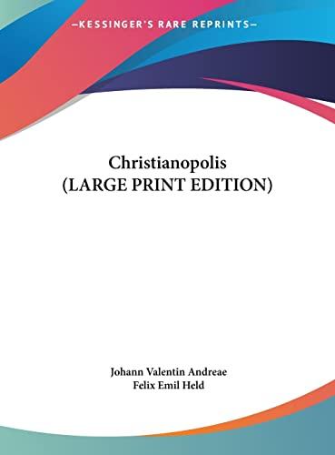9781169892491: Christianopolis (LARGE PRINT EDITION)
