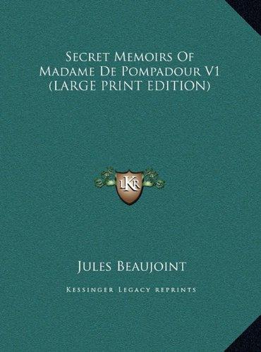9781169904408: Secret Memoirs of Madame de Pompadour V1