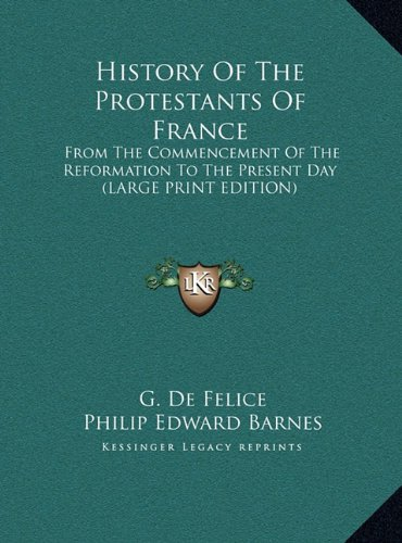 9781169920019: History of the Protestants of France: From the Commencement of the Reformation to the Present Day