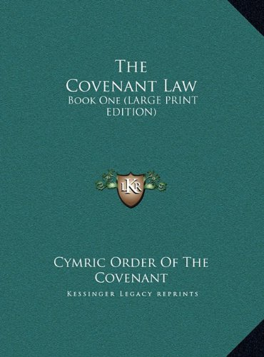 9781169952874: The Covenant Law: Book One (LARGE PRINT EDITION)