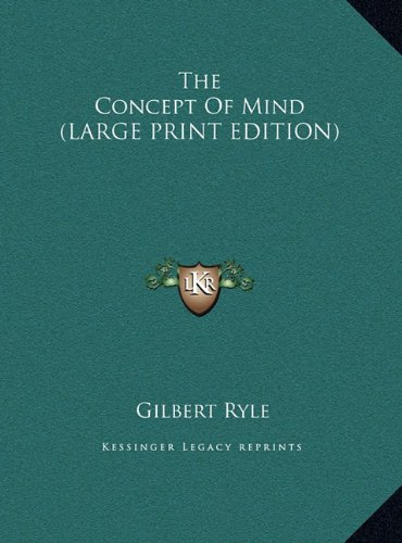 9781169957251: The Concept Of Mind (LARGE PRINT EDITION)
