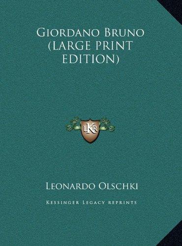 9781169960626: Giordano Bruno (LARGE PRINT EDITION)