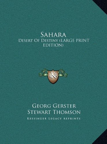 9781169965973: Sahara: Desert of Destiny (Large Print Edition)