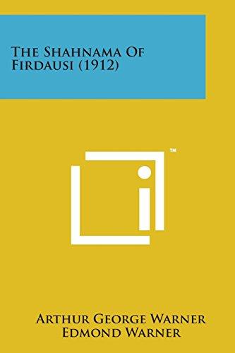 9781169974739: The Shahnama of Firdausi (1912)