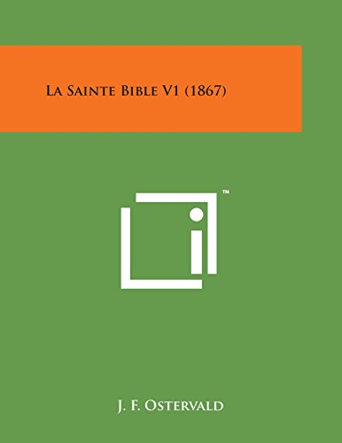 9781169978843: La Sainte Bible V1 (1867) (French Edition)