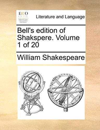 9781170347942: Bell's edition of Shakspere. Volume 1 of 20