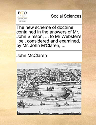 The New Scheme of Doctrine Contained in: John McClaren