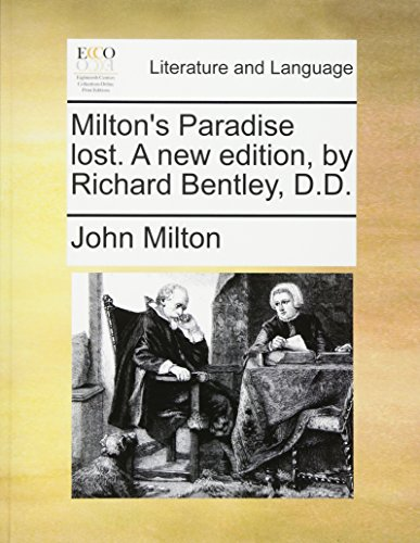 9781170734414: Milton's Paradise lost. A new edition, by Richard Bentley, D.D.