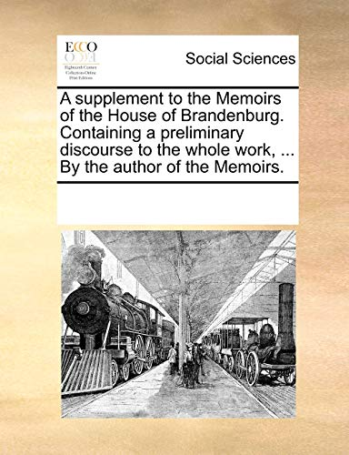 A supplement to the Memoirs of the: Multiple Contributors, See