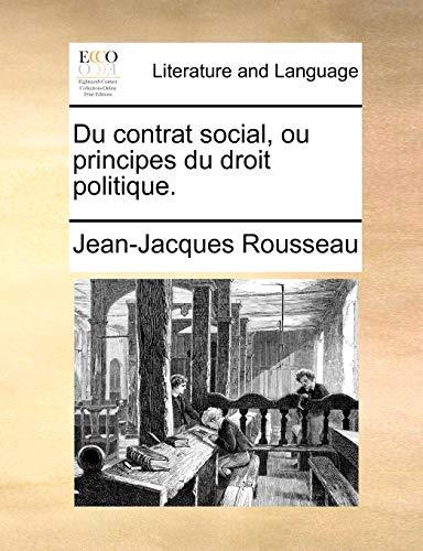 9781170917213: Du Contrat Social, Ou Principes Du Droit Politique