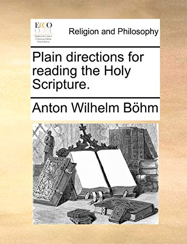 9781171151265: Plain directions for reading the Holy Scripture.