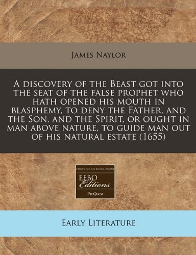 A Discovery of the Beast Got Into: James Naylor