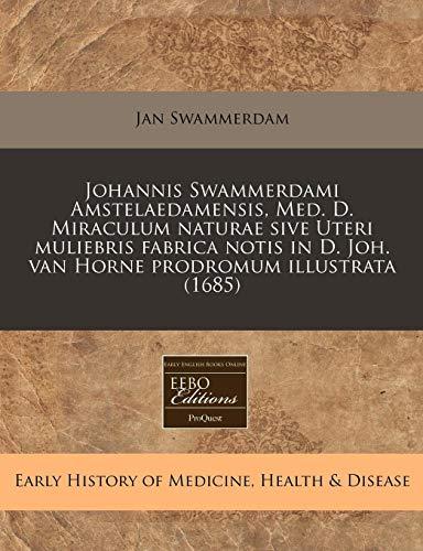Johannis Swammerdami Amstelaedamensis, Med. D. Miraculum Naturae: Jan Swammerdam