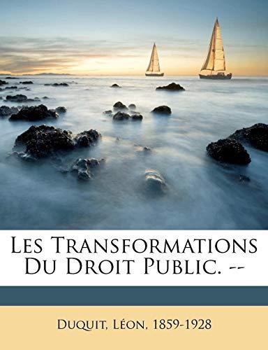 9781171934202: Les Transformations Du Droit Public. --