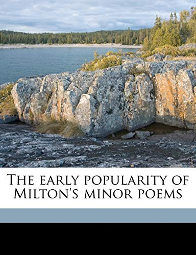 9781172275144: The early popularity of Milton's minor poems