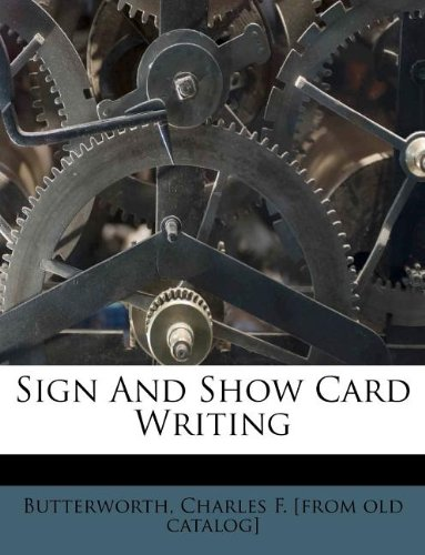 9781172579532: Sign and show card writing