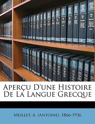 9781173076191: Aperçu d'une histoire de la langue grecque (French Edition)