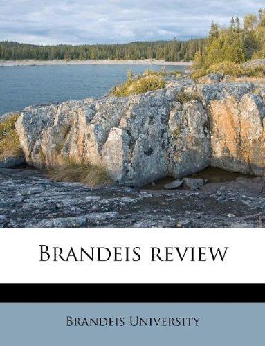 9781174698903: Brandeis review
