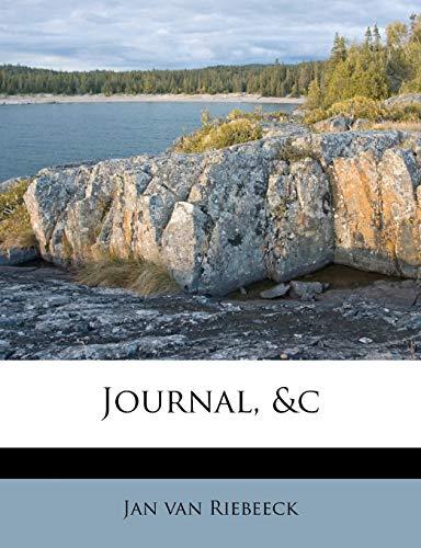 9781175001092: Journal, &c