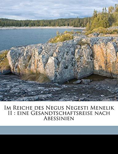 Im Reiche des Negus Negesti Menelik II: Hans Vollbrecht