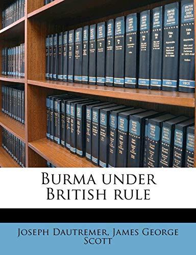 9781176370869: Burma under British rule
