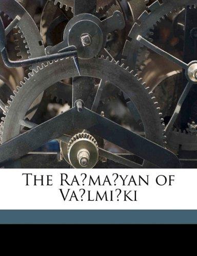 9781176507852: The Rámáyan of Válmíki