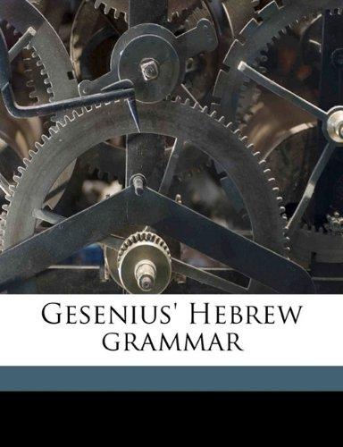 9781176644779: Gesenius' Hebrew grammar