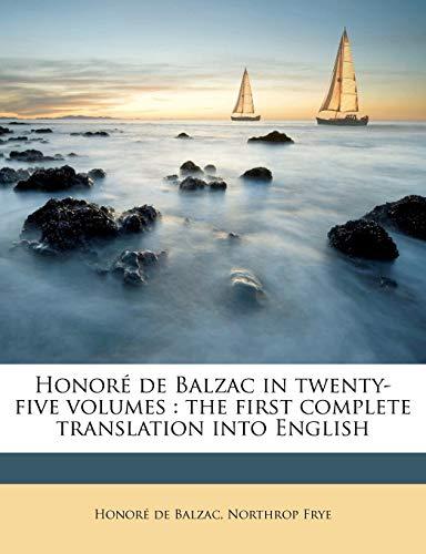 9781176707580: Honoré de Balzac in Twenty-five Volumes: The First Complete Translation into English, Volume 25