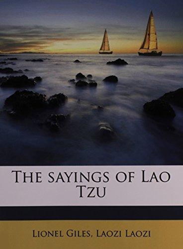 9781176962224: The sayings of Lao Tzu